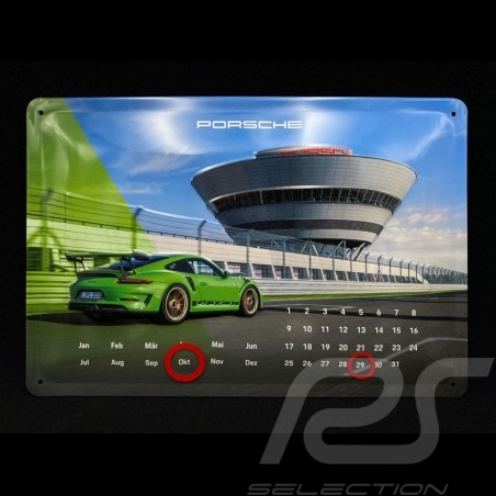 Porsche Calendar 911 GT3 RS perpetual metal to stand / to hang WAXL5000050