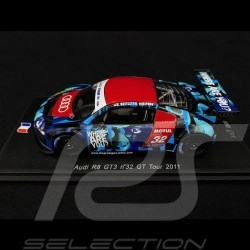 Audi R8 GT3 GT Tour 2011 n° 32 Hallyday / Ortelli 1/43 Spark SF028