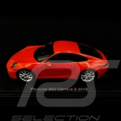 Porsche 911 Carrera S 2019 type 992 Orange fusion Lavoa orange 1/43 Spark S7836