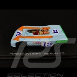 Porsche 908 /3 Gulf n° 12 Vainqueur Winner Sieger Targa Florio 1970 1/43 Spark 43TF70