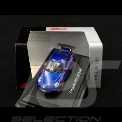 Porsche 911 GT3 RS type 997 Blue / Red 1/87 Schuco 452631600