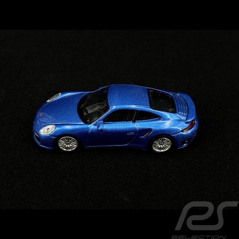 Porsche 911 Turbo Type 991 2016 Cobalt  Blue 1/64 Schuco 452010300