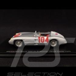 Mercedes-Benz 300 SLR n° 104 Vainqueur Targa Florio 1955 1/43 Spark 43TF55
