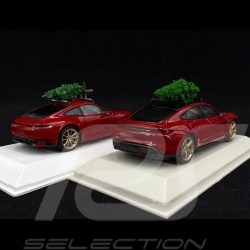 Duo Porsche 911 & Taycan Carmin red with Christmas tree 1/43 WAP0200000MPLG WAXL2000002