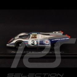 Porsche 917 K n° 3 Vainqueur Winner Sieger Sebring 12h 1971 1/43 Spark 43SE71