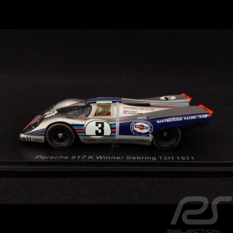 Porsche 917 K n° 3 Winner Sebring 12h 1971 1/43 Spark 43SE71