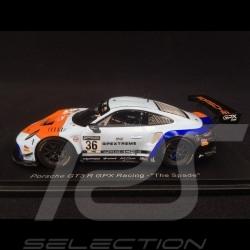 "Porsche 911 GT3 R typ 991 n° 36 GPX Racing ""The Spade"" 1/43 Spark SP323"