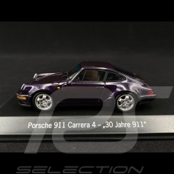 """Porsche 911 typ 964 Carrera 4 """" 30 Jahre Porsche 911 """" 1993 viola 1/43 Spark MAP02051120"""