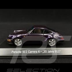 """Porsche 911 type 964 Carrera 4 """" 30 ans Porsche 911 """" 1993 viola 1/43 Spark MAP02051120"""