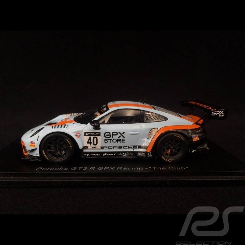 "Porsche 911 GT3 R type 991 n° 40 GPX Racing ""The Club"" 1/43 Spark SP324"