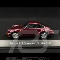 """Porsche 911 type 964 Carrera 4 """" 30 ans Porsche 911 """" 1993 viola 1/43 Spark MAP02051020"""