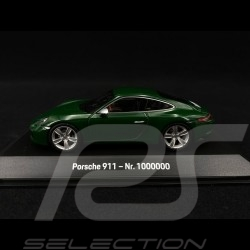 Porsche 911 type 991 Carrera S N° 1 million 1000000 Irish Green 70 years Edition 1/43 Spark MAP02080020