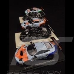 Set of 5 Porsche 911 GT3 R type 991 GPX Racing 1/43 Spark