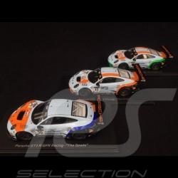 Trio Porsche 911 GT3 R type 991 GPX Racing 1/43 Spark