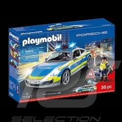 Porsche 911 Carrera 4S typ 991 Polizei mit Figuren Playmobil WAP0401110MPMP