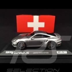 Porsche 911 Turbo S Limited Schweizer Edition Geneva Motorshow 2020 - Sammler 1/43 Minichamps WAP0201360LCHE