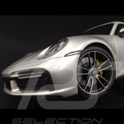 Porsche 911 Turbo S type 992 GT Silver Grey Metallic 2020 1/18 Minichamps WAP02117A0L001
