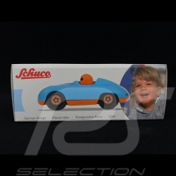 Vintage Spyder wooden racing car for children Gulf blue Schuco 450987700