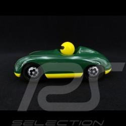 Vintage Spyder Hölzerner Rennwagen für Kinder Grün Schuco 450987500