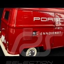 VW Transporter T1 van Porsche racing service 1963 red 1/18 Schuco 450029900