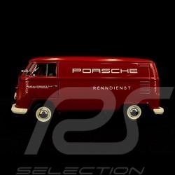 VW Bulli T1 Transporter Porsche Renndienst 1963 rot 1/18 Schuco 450029900
