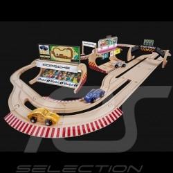 Porsche Racing 600 cm Rennstrecke aus Holz mit 3 Autos und Zubehör Eichhorn 109475855