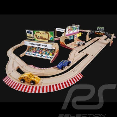 Porsche Racing 600 cm wooden track with 3 cars and accessories Eichhorn 109475855