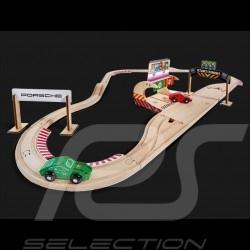 Porsche Racing 350 cm Rennstrecke aus Holz mit 2 Autos und Zubehör Eichhorn 109475850