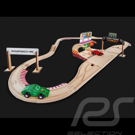 Porsche Racing 350 cm wooden track with 2 cars and accessories Eichhorn 109475850