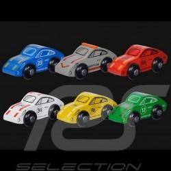 Set von 6 Porsche 911 Holzautos für Porsche Racing Rennstrecke Eichhorn 109475861