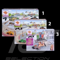 Set Porsche Racing 1000 cm wooden track with 6 cars and accessories Eichhorn 109475850 109475855 109475860