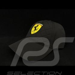 Ferrari cap gesteppt schwarz
