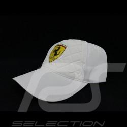 Ferrari cap gesteppt weiß