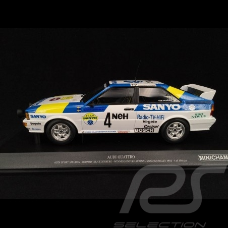"Audi Quattro ""Audi Sport Sweden"" n° 4 Winner Swedish Rallye 1982 1/18 Minichamps 155821105"