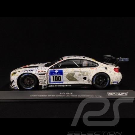 BMW M6 GT3 Schubert Motorsport n° 100 Nüburgring 2016 1/18 Minichamps 155162611