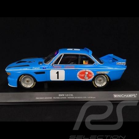 BMW 3.0 CSL Precision Liegeoise n° 1 Vainqueur 4h Monza 1974 1/18 Minichamps 155742681