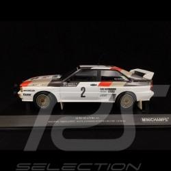 Audi Quattro A1 Audi Sport n° 2 Rallye Monte Carlo 1983 1/18 Minichamps 155831102