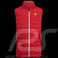 Ferrari Jacket Padded Sleeveless Red Ferrari Motorsport Collection - men