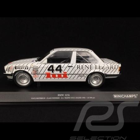 BMW 325i n° 44 Class Winner E.G. Trophy ETCC Zolder 1986 1/18 Minichamps 155862644