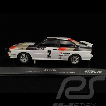 Audi Quattro Audi Sport n° 2 Winner Swedish Rallye 1981 1/18 Minichamps 155811102