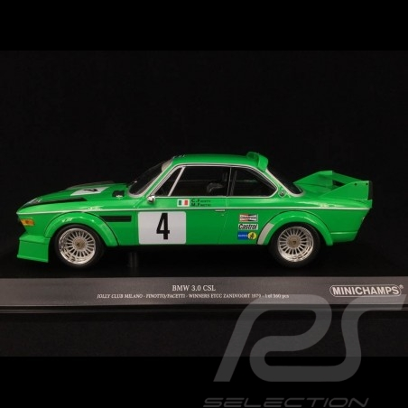 BMW 3.0 CSL Jolly Club n° 4 Vainqueur ETCC Zandvoort 1979 1/18 Minichamps 155792504