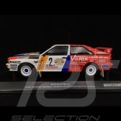 Audi Quattro A2 Schmidt Motorsport n° 2 Vainqueur Hunsrück Rallye 1984 1/18 Minichamps 155841102