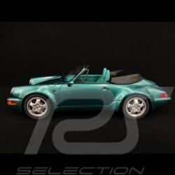 Porsche 911 Cabriolet type 964 Turbo look 1992 Wimbledon green 1/18 GT Spirit GT294