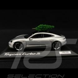 Porsche Taycan Turbo S 2020 Dolomite grey with Christmas tree 1/43 Minichamps WAP0207800MCHR