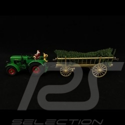 Deutz F3 tractor with coupling and Santa Claus 2020 Christmas Edition: contains 1/32 Schuco 450782300