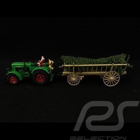 Deutz F3 tracteur tractor traktor avec attelage et Père Noël 2020 Christmas Edition 1/32 Schuco 450782300