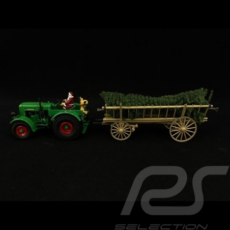 Deutz F3 tractor with coupling and Santa Claus 2020 Christmas Edition: contains 1/32Schuco 450782300
