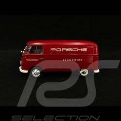 VW Combi T1 transporteur Porsche service course 1963 rouge 1/32 Schuco 450785300