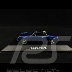 Porsche 914 /6 1973 Bleu Alaska métallisé Ocean blue metallic Alaskametallic blau 1/43 SPARK MAP02005918