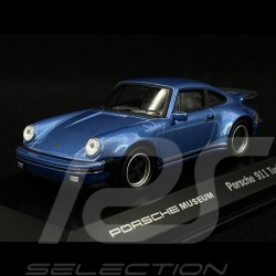 """Porsche 911 Turbo 3.0 """" 40 Years Turbo """" blue 1/43 Welly MAP01993014"""